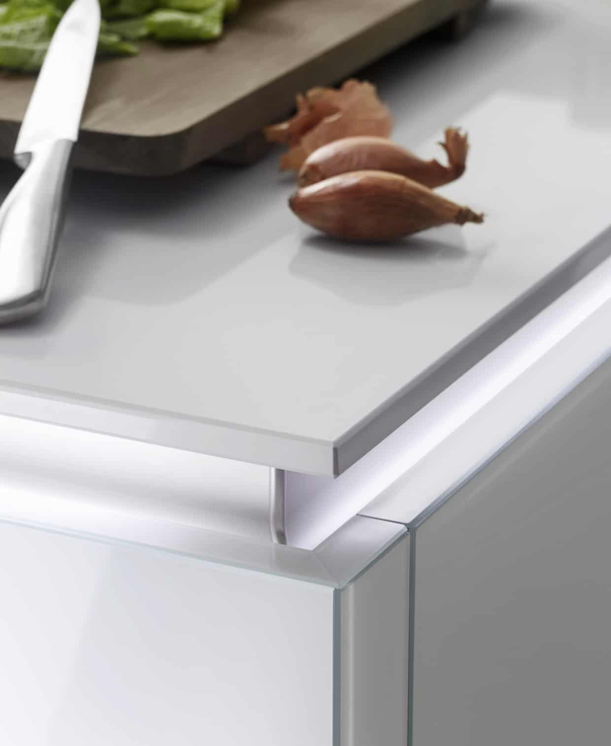 nolte glas tec plus cabinet with 12mm deep worktop haydown kitchens