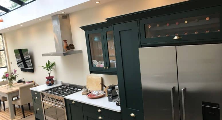 Bespoke kitchen in garden flat