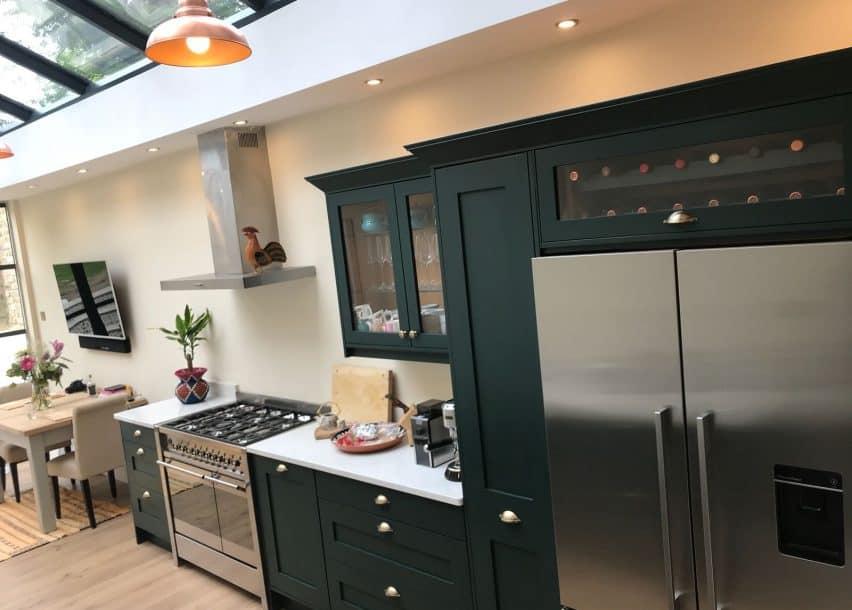 Bespoke kitchen in garden flat
